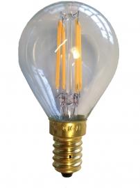 Filament Led Kogel 2w/25w E14 Helder extra warm licht (NIET DIMBAAR)