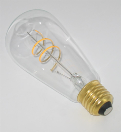 Curved Filament Led Edison E27 Helder dimbaar