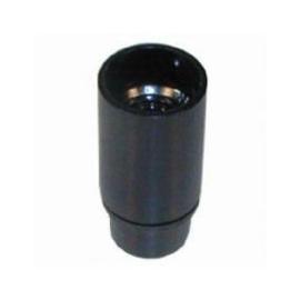 Fitting E14 kunststof glad zwart