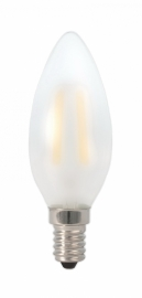 Filament Led Kaars 1w/15w E14 Mat extra warm licht (NIET DIMBAAR)