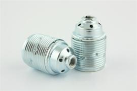 Fitting E27 voldraad metaal zilver