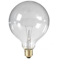 Global-lux globe 125mm 60 watt 230V E27 Helder