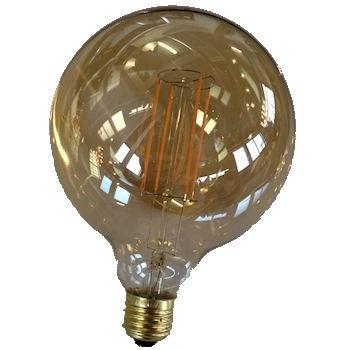 Filament Led  Globe 125mm Goud E27 extra warm licht (NIET DIMBAAR)