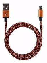 USB Lightning kabel Oranje/Zwart 1 mtr