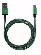 USB Micro kabel 1mtr Groen/Zwart