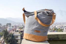Daily bag - Zwarte fijn patroon