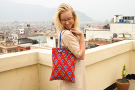 Tote bag - Flowery Red