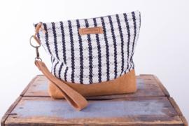 Wash Bag - Zwart/ Witte Ruit