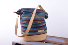 Daily bag - Donker mix Recycle patroon