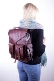 """Envelope Bag 4 Pockets Leather 15,6"""" – Dark Brown"""