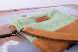 Zip purse Large - Groen