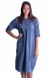 Patch jurk - Jeansblauw