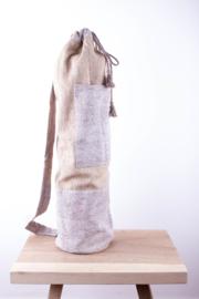 MuniMuni Yoga Bag - Silk Grey with open Pocket