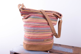 Daily bag - Zalmroze Recycle patroon