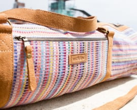 Aasha Zip Yoga Mat Bag by Woven - Licht Paars Recycle Patroon