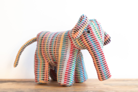 Fair Trade handgeweven knuffel Olifant - Recycle Mix