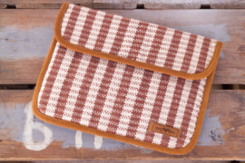 iPad Sleeve - Bruin/ Witte ruit