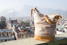Daily bag - Oud Roze Recycle patroon