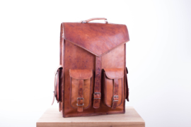"Envelope Bag 4 Pockets Leather 17"" – Medium Dark"