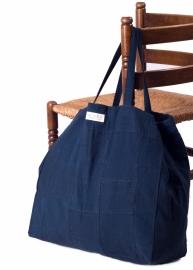 Patch tas - Donkerblauw