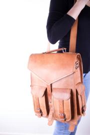 """Envelope Bag 4 Pockets Leather 17"""" – Oil color"""