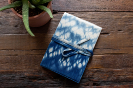 Tie Dye Notebook - Raindrop Indigo Blue