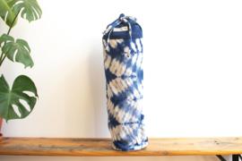 Tie Dye Yoga Mat Bag - ZigZag Indigo Blue