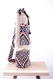 MuniMuni Yoga Bag - Jute/ OrangeBlack with open Pocket