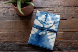 Tie Dye Notebook - ZigZag Indigo Blue