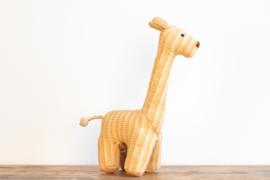 Fair Trade handgeweven knuffel Giraffe - Geel