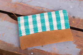 Money bag - Grove Turquoise/ Witte ruit