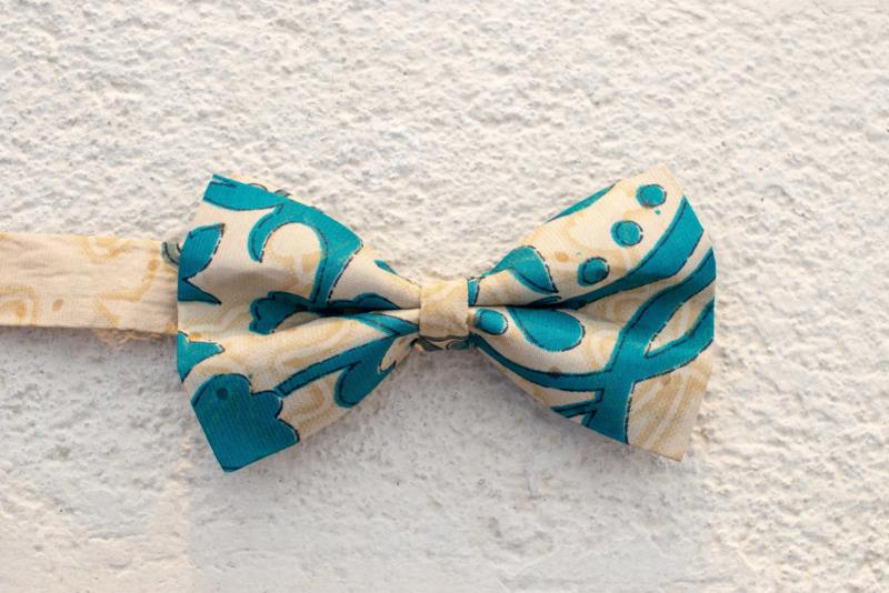 Strik - Creme & Turquoise