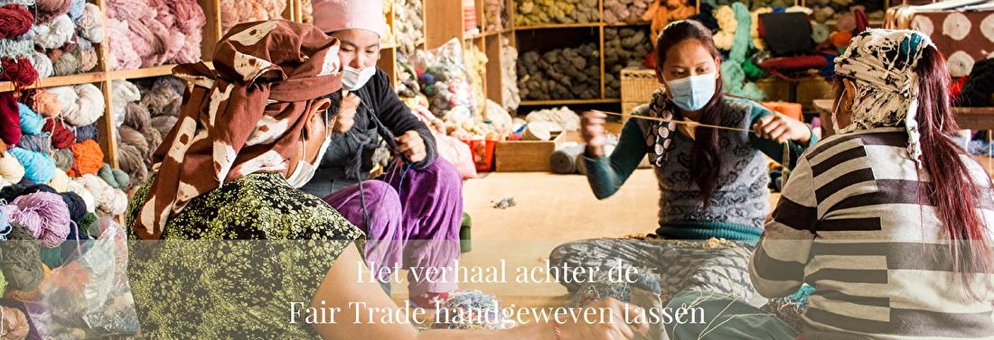 Het verhaal achter de Fair Trade handgeweven tassen