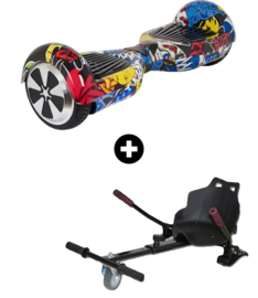 Hoverboard Graffiti Black 6,5 inch