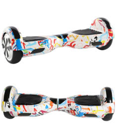 Hoverboard Graffiti Wit 6,5 inch