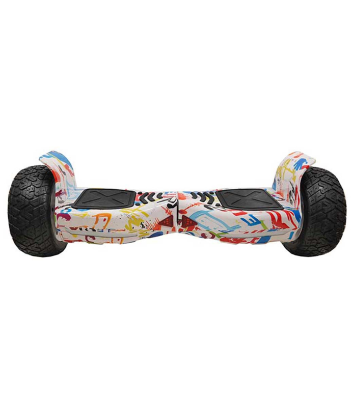 Off Road Hoverboard Graffiti Wit 8,5 inch