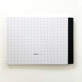 PLANBOEK Softcover A4 + KAART (genaaid met rood draad)
