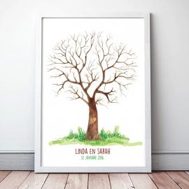 Gastenboek boom geschilderd!