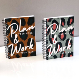 NEW: Plan Your Work Leopard print B
