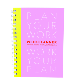 PLANBOEK Plan your Work A5 PINK