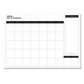 12 Grote Maandplanners - posters (42 x 60 cm) Black&White