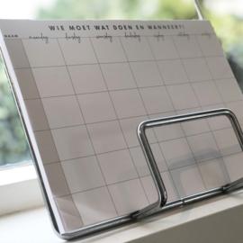 A4 Familieplanner - blocnote (weekplanner) + kaart
