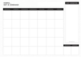 Maandplanner Black&White 12X