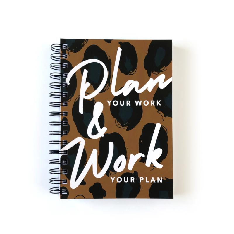 Black Friday Deal! Plan Your Work Leopard Brown