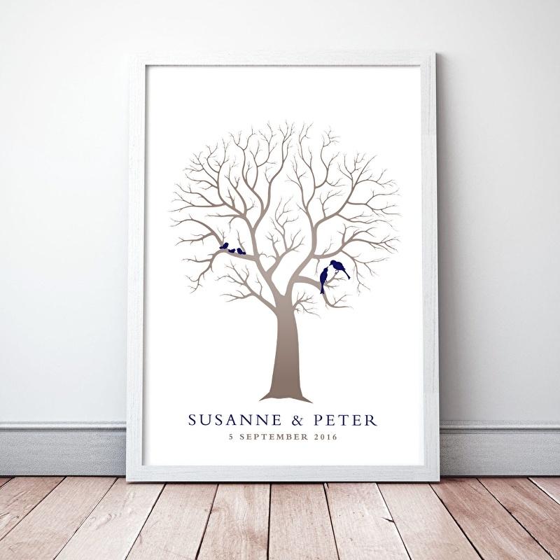 Gastenboek Bruiloftboom extra vogeltjes
