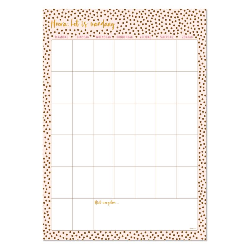 12 Grote maandplanners posters 42 x 60 cm