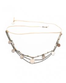 Salome Short Belt/Necklace Beige