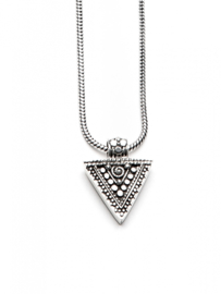 Triangle Necklace -50CM Silver