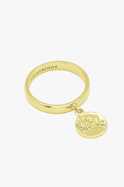 Beach Charm Ring Gold