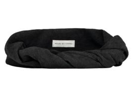 Black Corduroy Headband - Bandeau Tessel